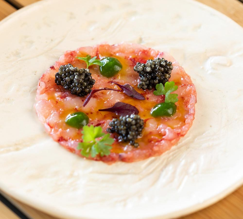 Recipe for large red prawn and caviar carpaccio | Diego Gallegos